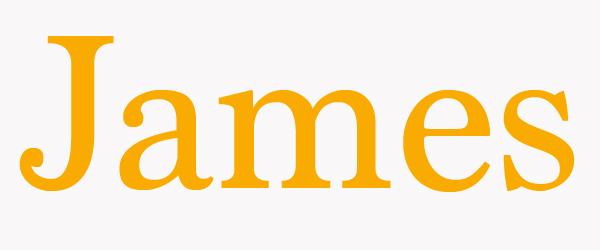 foto del nombre james