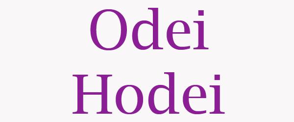 significado del nombre odei/hodei