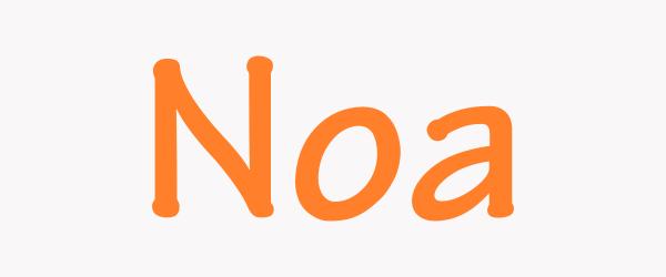 significado nombre noa