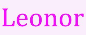 Significado de Leonor