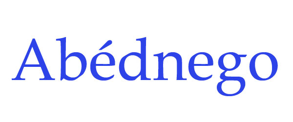 significado de abednego