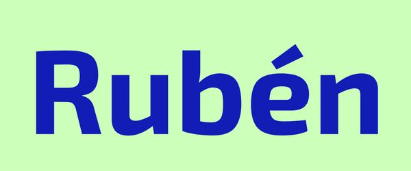 significado de ruben