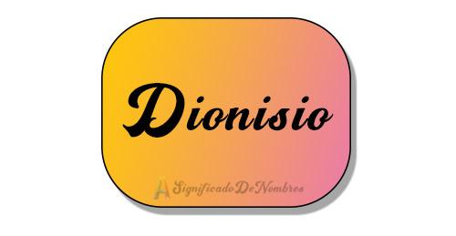 significado de dionisio