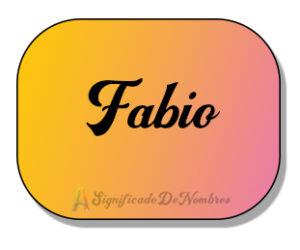 Significado del nombre Fabio